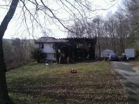 Early morning fire causes severe damage to dwelling. Photo- Chf. D.Love