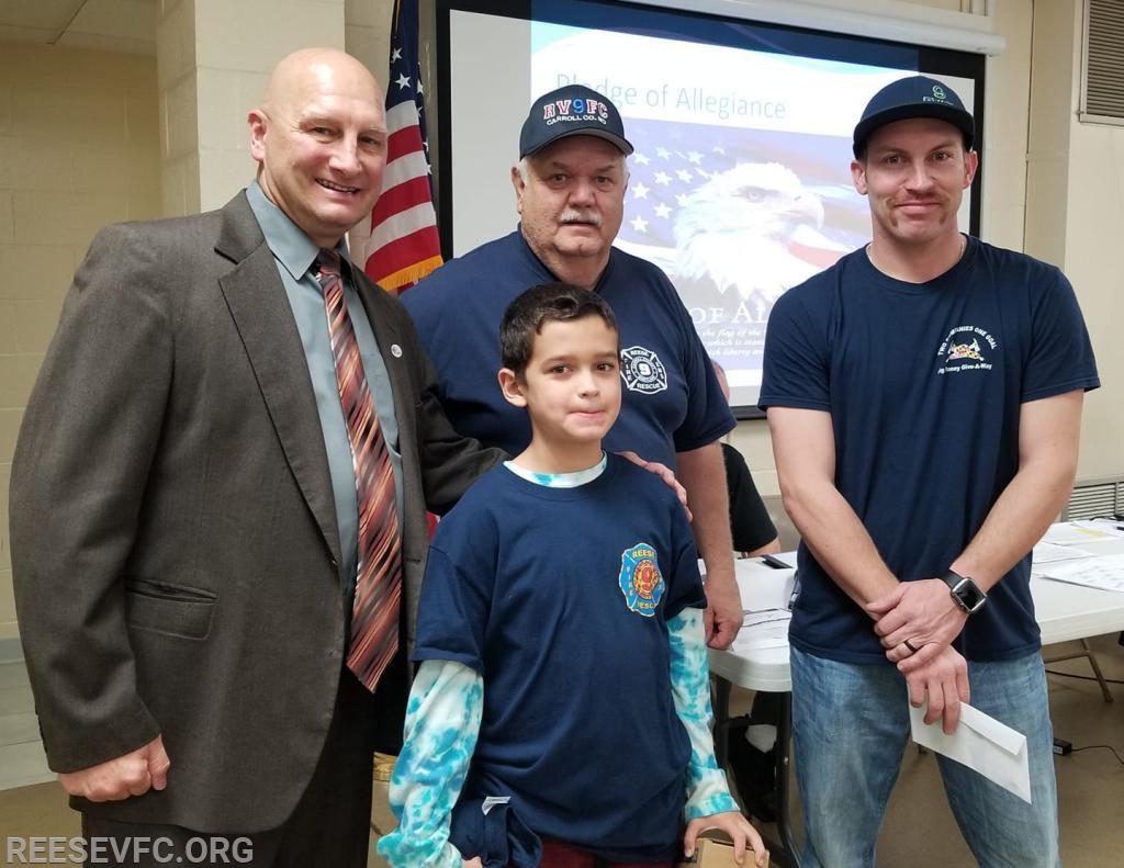 Wyatt pictured with President Hyde, 2nd VP Dayton and Lt. Shaeffer